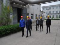 介休市能源局副局长张龙一行到煤层气发电公司进行电力安全检查
