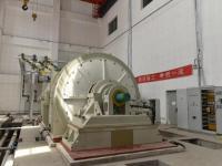 海检中心电气试验室3200兆伏安短路发电机机械试车成功