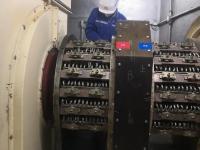 田湾项目部顺利完成3#发电机碳刷更换工作